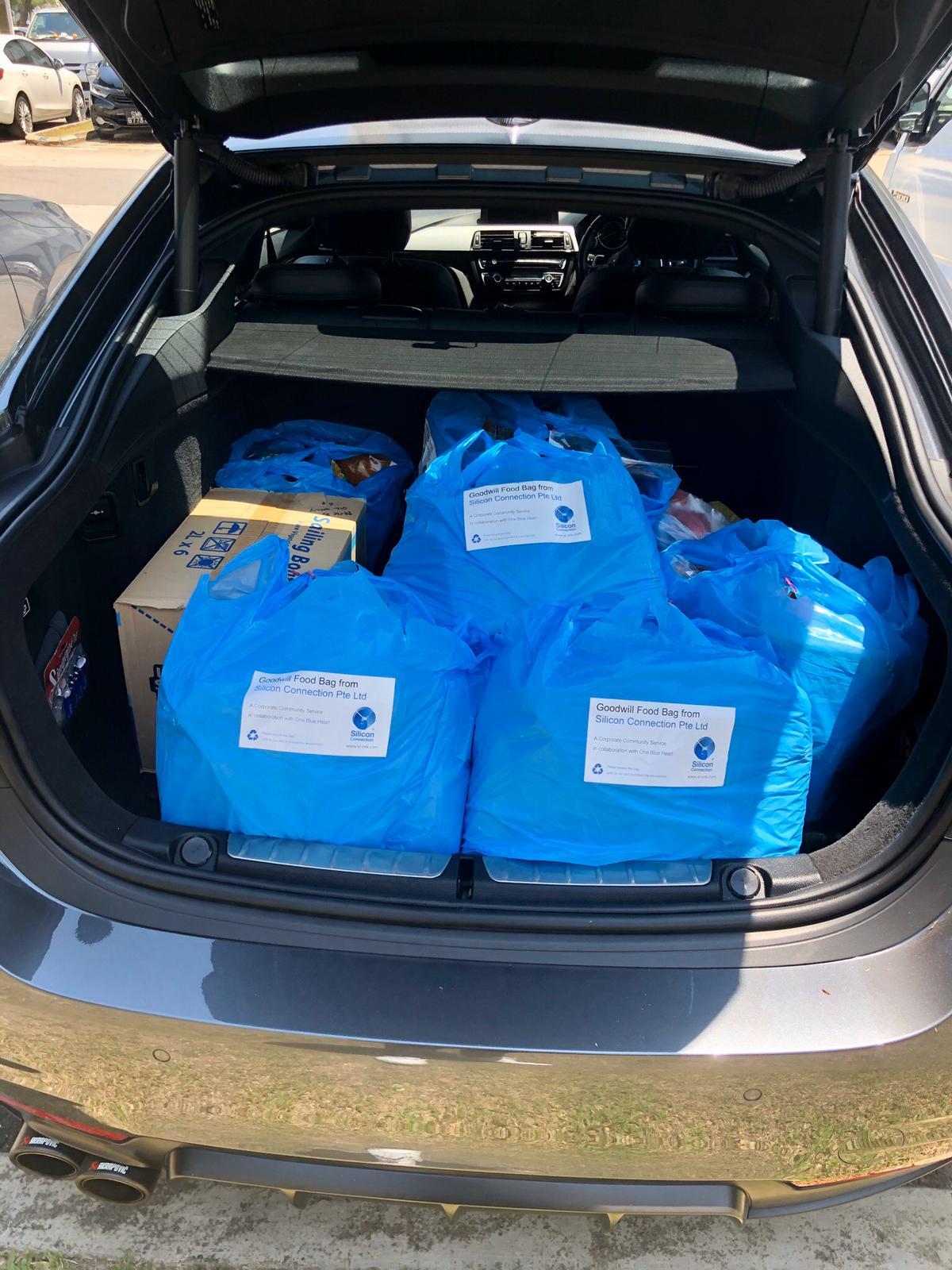 Food Bags in Steven Car Boot